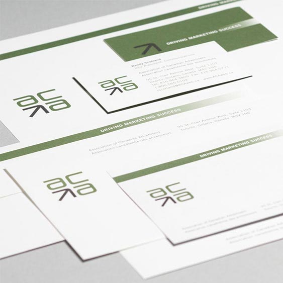 Association of Canadian Advertisers (ACA) Stationery Package design by Filip Jansky