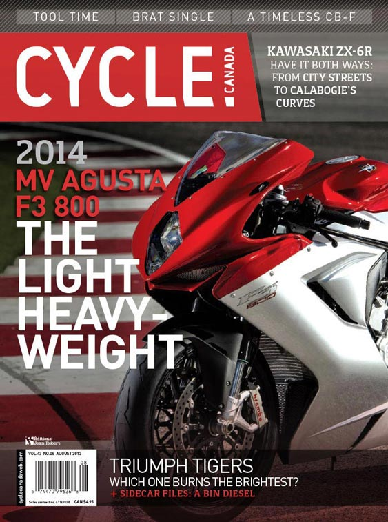 Cycle Canada magazine cover - August 2013 issue design by Filip Jansky
