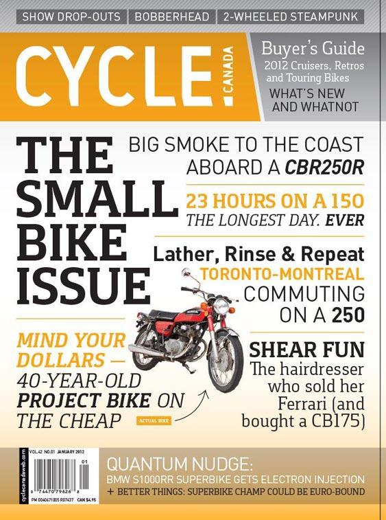 Cycle Canada magazine cover - January 2012 issue design by Filip Jansky