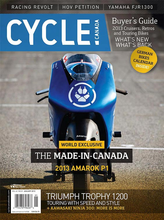 Cycle Canada magazine cover - January 2013 issue design by Filip Jansky