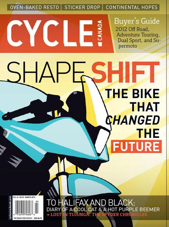 Cycle Canada magazine cover - March 2012 issue design by Filip Jansky