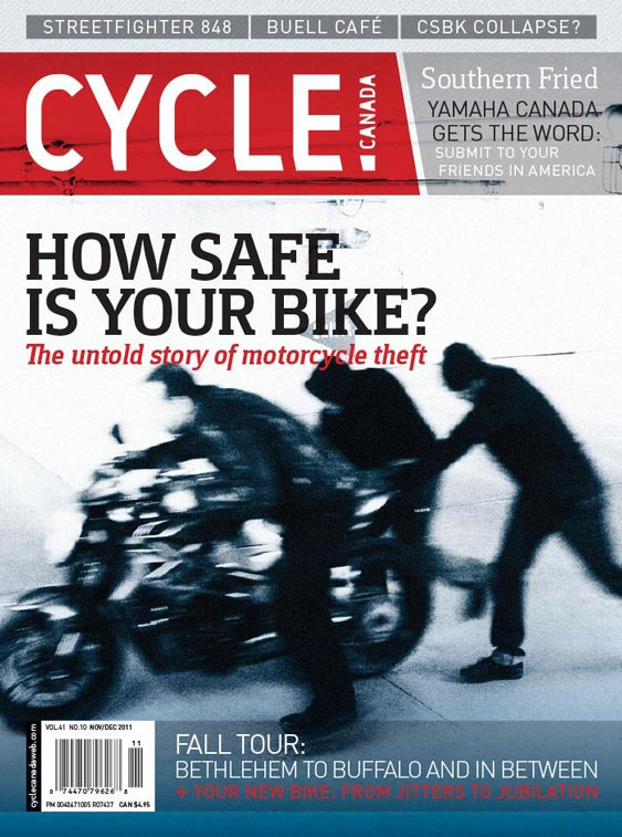 Cycle Canada magazine cover - Nov/Dec 2011 issue design by Filip Jansky