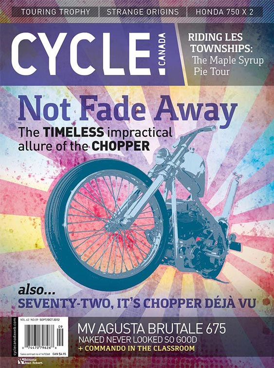 Cycle Canada magazine cover - Sept/Oct 2012 issue design by Filip Jansky
