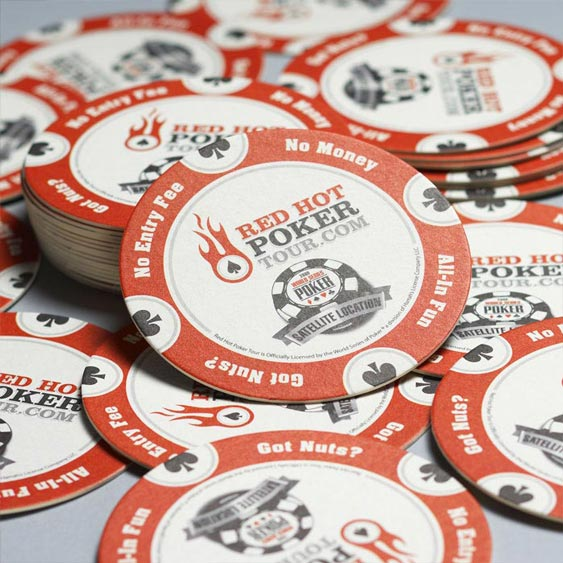 Red Hot Poker Tour - Event Marketing Coasters design by Filip Jansky