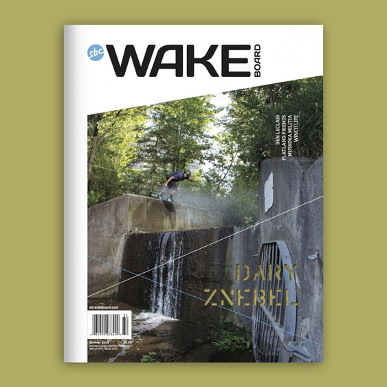 SBC Wakeboard 18.1 magazine cover design by Filip Jansky