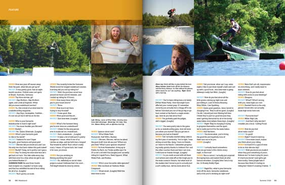 SBC Wakeboard 18 magazine editorial design by Filip Jansky