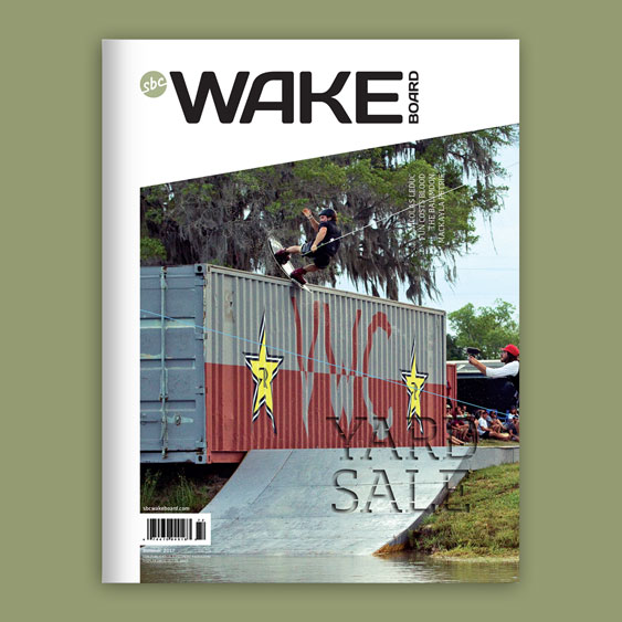 SBC Wakeboard 19.1 magazine cover design by Filip Jansky