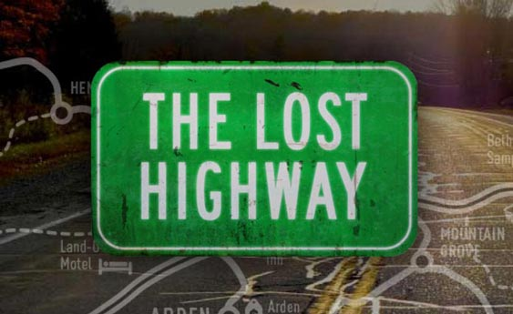 The Lost Highway — Documentary Film and Website Logo designed by Filip Jansky