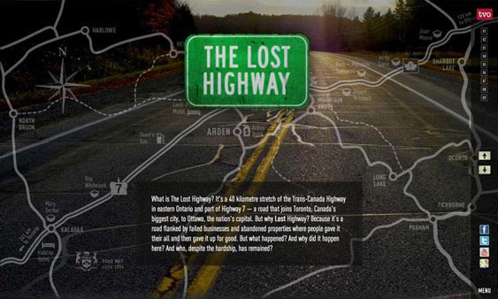 The Lost Highway - Documentary Film Website design by Filip Jansky